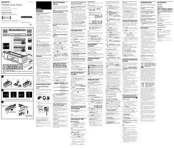 Sony ICF-C717PJ - ICF-C717PJ Istruzioni per l'uso Spagnolo