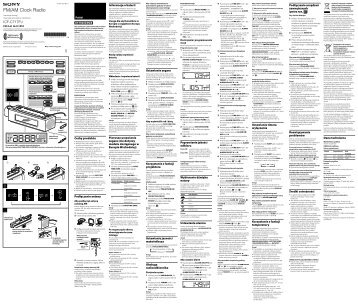 Sony ICF-C717PJ - ICF-C717PJ Istruzioni per l'uso Polacco