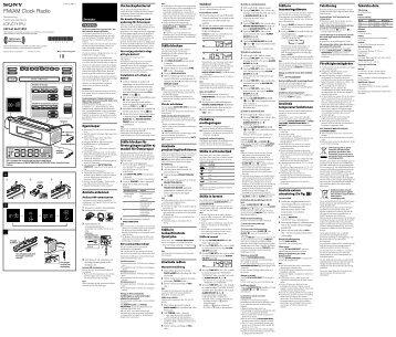 Sony ICF-C717PJ - ICF-C717PJ Istruzioni per l'uso Svedese