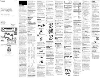 Sony ICF-DS11iP - ICF-DS11IP Istruzioni per l'uso Portoghese