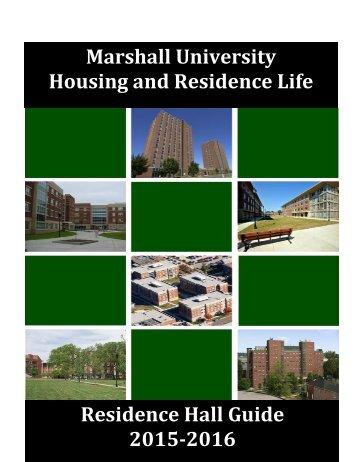 Marshall University Housing and Residence Life Residence Hall Guide 2015-2016