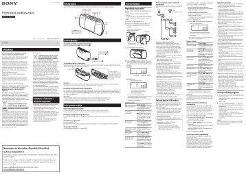 Sony ZS-PE40CP - ZS-PE40CP Istruzioni per l'uso Croato