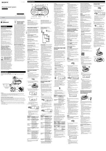 Sony ZS-RS70BT - ZS-RS70BT Istruzioni per l'uso Slovacco