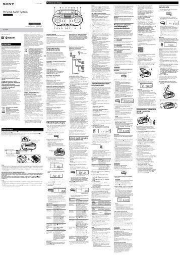Sony ZS-RS70BT - ZS-RS70BT Istruzioni per l'uso Polacco