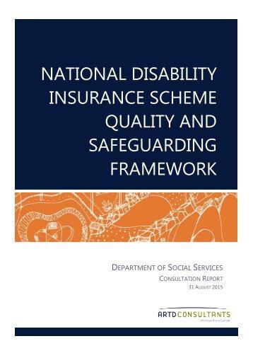 NATIONAL DISABILITY INSURANCE SCHEME QUALITY AND SAFEGUARDING FRAMEWORK