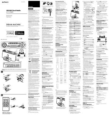 Sony ICF-C1IPMK2 - ICF-C1IPMK2 Istruzioni per l'uso Finlandese