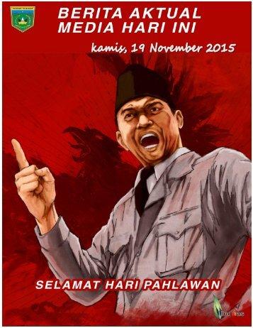 e-Kliping  Kamis, 19 November 2015