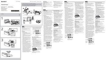 Sony ICF-306 - ICF-306 Istruzioni per l'uso Greco