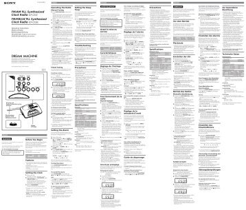 Sony ICF-C233 - ICF-C233 Istruzioni per l'uso Inglese