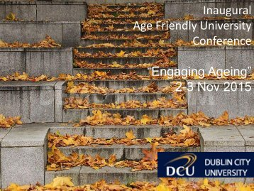 """Engaging Ageing"" 2-3 Nov 2015"