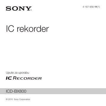 Sony ICD-BX800 - ICD-BX800 Istruzioni per l'uso Croato