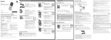 Sony ICD-UX543 - ICD-UX543 Istruzioni per l'uso Norvegese