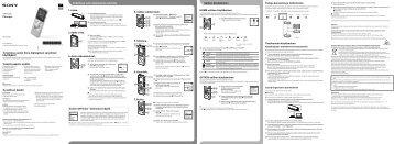 Sony ICD-UX543 - ICD-UX543 Istruzioni per l'uso Finlandese