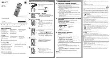 Sony ICD-UX532 - ICD-UX532 Guida di configurazione rapid Finlandese