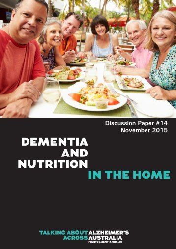 DEMENTIA AND NUTRITION IN THE HOME