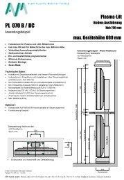 Lift Plasma 700 / 900 - AVM-Technik GmbH