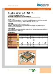 Isolation de toit plat - DDP-RT - Isotosi.