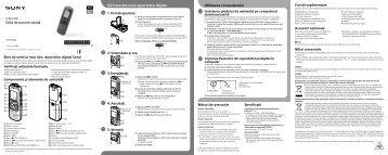 Sony ICD-PX232 - ICD-PX232 Guida di configurazione rapid Bulgaro
