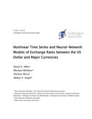 Models of Exchange Rates between the US Dollar and Major Currencies