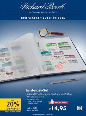 Borek Briefmarken-Zubehör Katalog 2016