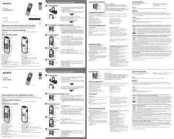 Sony ICD-BX132 - ICD-BX132 Guida di configurazione rapid Svedese