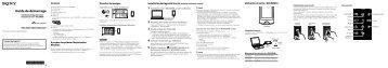 Sony NWZ-A866 - NWZ-A866 Guida di configurazione rapid Francese