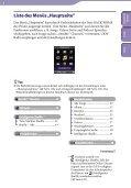 Sony NWZ-S739F - NWZ-S739F Istruzioni per l'uso Tedesco - Page 6