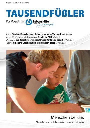2015 November / Lebenshilfe Freising / Tausendfüßler-Magazin