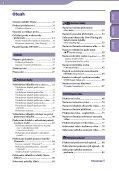 Sony NWZ-S739F - NWZ-S739F Istruzioni per l'uso Ceco - Page 4