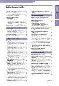 Sony NWZ-S739F - NWZ-S739F Istruzioni per l'uso Spagnolo - Page 4