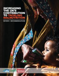 CoNtRIbUtIoN to tACKlING mAlNUtRItIoN