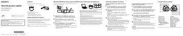Sony NWZ-W274S - NWZ-W274S Guida di configurazione rapid Rumeno