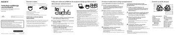 Sony NWZ-W274S - NWZ-W274S Guida di configurazione rapid Polacco