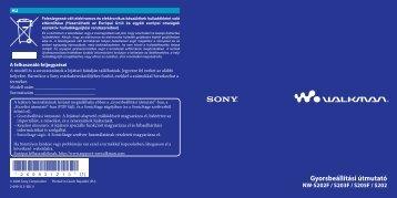 Sony NW-S203F - NW-S203F Istruzioni per l'uso Ungherese