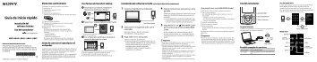 Sony NWZ-A846 - NWZ-A846 Guida di configurazione rapid Spagnolo