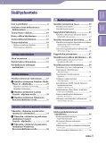 Sony NWZ-A846 - NWZ-A846 Istruzioni per l'uso Finlandese - Page 3