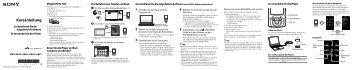 Sony NWZ-A846 - NWZ-A846 Guida di configurazione rapid Tedesco