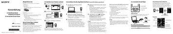 Sony NWZ-S545 - NWZ-S545 Istruzioni per l'uso Tedesco