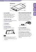 Sony NWZ-S545 - NWZ-S545 Istruzioni per l'uso Portoghese - Page 6