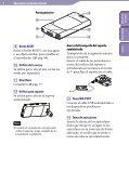 Sony NWZ-S545 - NWZ-S545 Istruzioni per l'uso Spagnolo - Page 6
