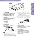 Sony NWZ-S545 - NWZ-S545 Istruzioni per l'uso Svedese - Page 6