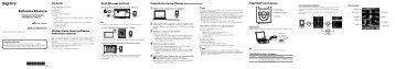 Sony NWZ-E375 - NWZ-E375 Guida di configurazione rapid Turco