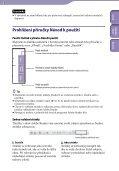 Sony NWZ-S545 - NWZ-S545 Istruzioni per l'uso Ceco - Page 2