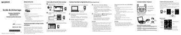 Sony NWZ-S545 - NWZ-S545 Istruzioni per l'uso Francese