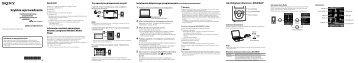 Sony NWZ-E375 - NWZ-E375 Guida di configurazione rapid Polacco