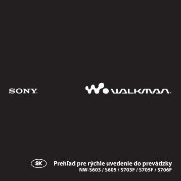 Sony NW-S605 - NW-S605 Istruzioni per l'uso Slovacco