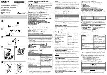 Sony NWZ-S773BT - NWZ-S773BT Istruzioni per l'uso Sloveno