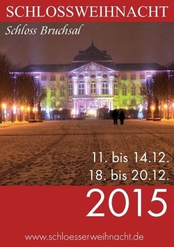 Programmheft Schlossweihnacht Bruchsal 2015