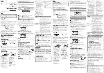 Sony NWZ-B153 - NWZ-B153 Istruzioni per l'uso Turco