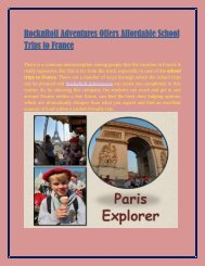 RocknRoll Adventures Offers Affordable School Trips To France